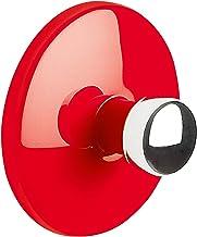 """Spirella Handdoekhaak, zelfklevend, badkamer en keuken, """"bowl"""", handdoekhouder, kleerhaak zonder boren, Ø5 cm, rood"""