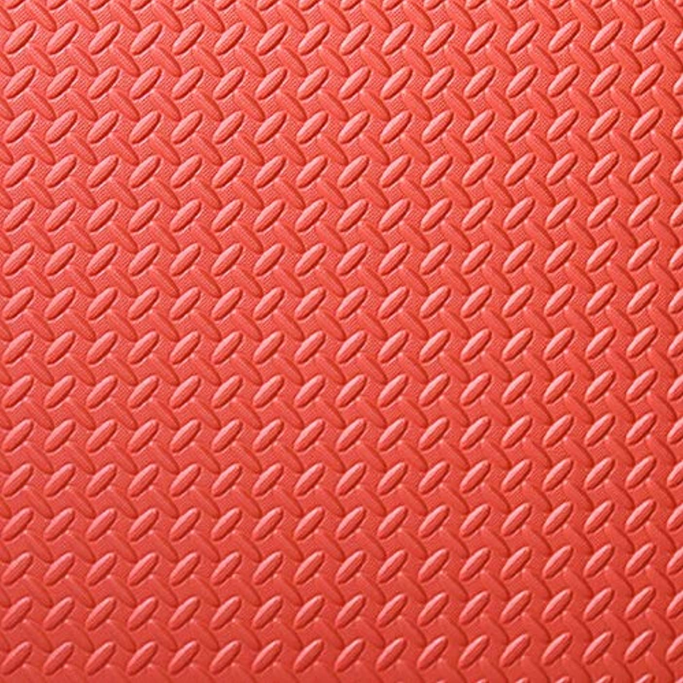 ジョイントマット カラーカーペット 大判 無地 タイル 30×30×1.2cm 20枚 パズルマット 縁あり 衝撃を吸収し おくだけ吸着 環境に優しい 断熱 抗菌?防ダニ加工 防音 ベビー 床暖房対応 レッド