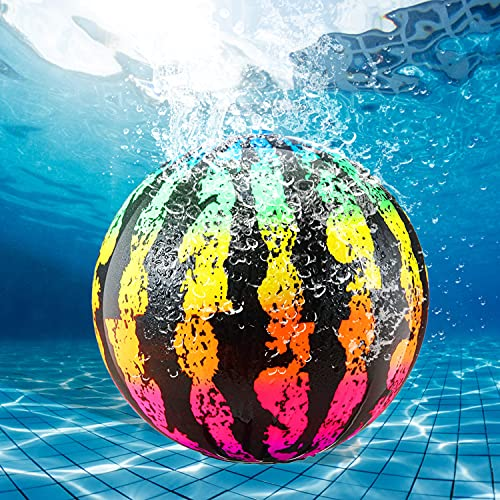 Faffooz Pelota de Playa Inflable de sandía Pelota de Playa de melón Piscina Inflable Bajo El Agua Juguetes para Niños Partido De Verano Pelota con inyección de Agua Cabeza