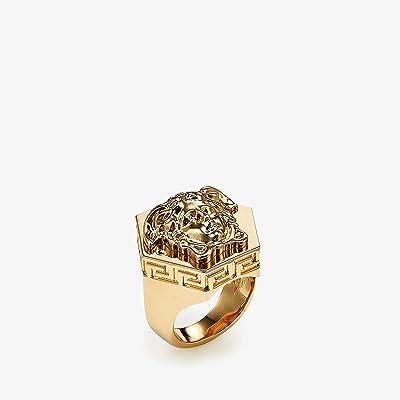 Versace Medusa Hex Ring (Gold) Ring