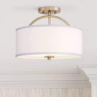 Halsted Modern Ceiling Light Semi Flush Mount Fixture Warm Brass 15