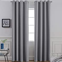Best gray blackout curtains grommet Reviews