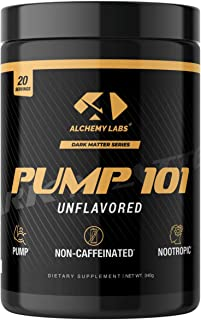 Alchemy Labs - Pump 101, Nitric Oxide Booster, Non-Stimulant Pre-Workout Powder, L-Citrulline, Beta Alanine, Agmatine Sulf...