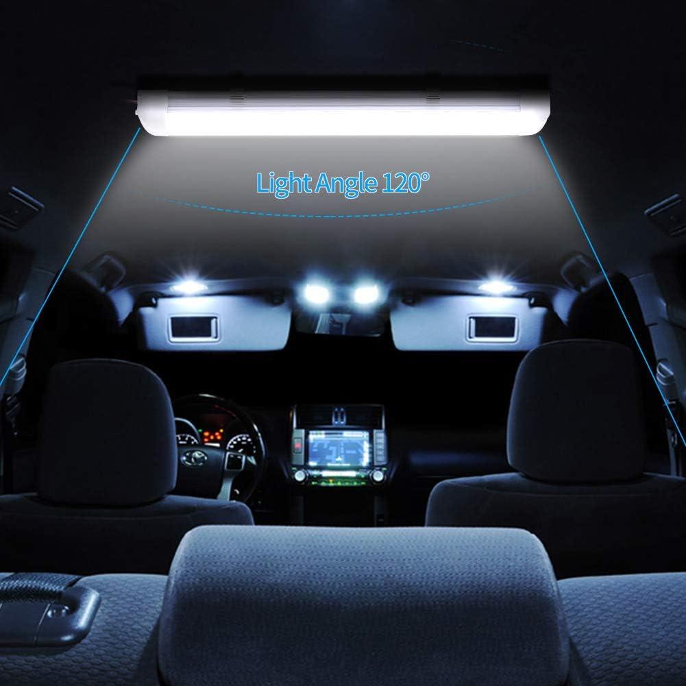 Papasbox Luci LED Interne per Auto Striscia rigida 72 LED Strip Lights con ON//off Interruttore DC 12V per Camper Cucina Van Bus Caravan Boat