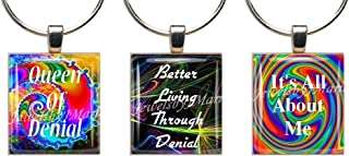 FUNNY QUOTES ~ Scrabble Tile Wine Glass Charms Set of 3 ~ Stemware Charms/Markers/Pendants