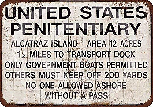 not Please Drive Slow-Alcatraz Prison Decorazioni da Parete retrò in Metallo Poster Targa in Metallo Dipinto Arte Decorazione Targa Avvertimento Cafe Garage Party Sala Giochi