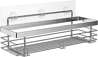 ODesign Shower Caddy Basket Shelf with Hooks for Shampoo Conditioner Bathroom Storage Organizer SUS304 Stainless Steel - No Drilling