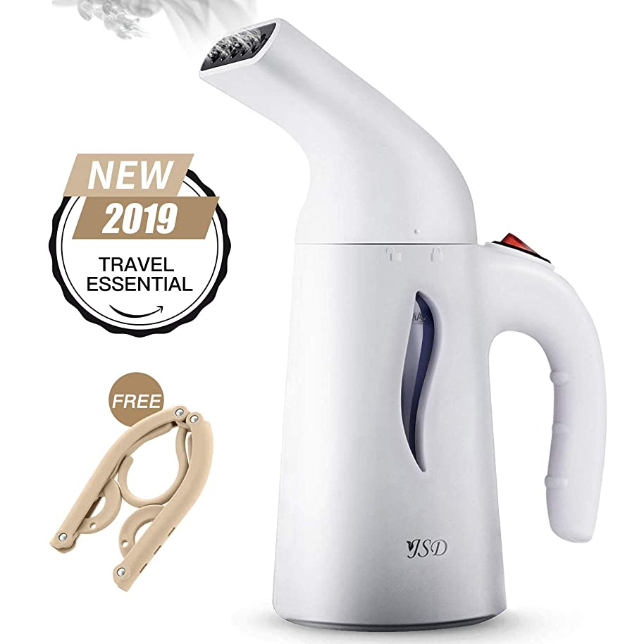 JSD Steamer for Clothes, 7 in 1 Travel Garment Steamers, 150ml Powerful Handheld Fabric Steamer with High Capacity for Home and Travel, Travel Pouch Included [Updated Version]