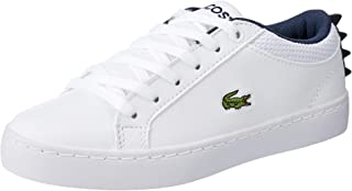 Lacoste Children's Straightset 119 1 Fashion Shoes, WHT/NVY