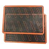 DealMux alfombrilla para hornear de silicona alfombrillas para hornear de silicona bandejas para hornear alfombrilla de silicona reutilizable antiadherente para hornear alimentos bandejas para hornea