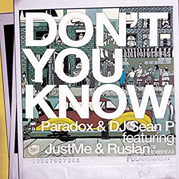 Don't You Know (Maxi Single)