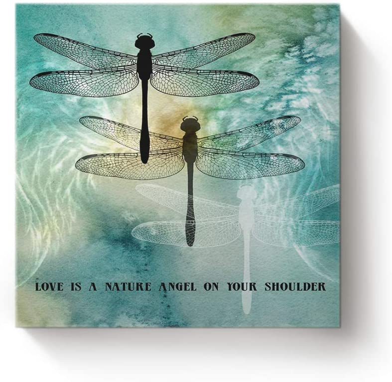 Frog dragonfly HD Canvas prints Painting Home decor Picture Room Wall art Poster