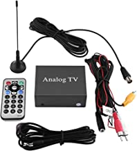 Car DVD TV Receiver Digital TV Receiver Box Analog TV Tuner Strong Signal Box with Antenna Remote Controller