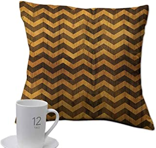 Home Pillow case Chevron,Zigzag Chevron V-Shaped Motif Medieval Heraldry Symbol on Wood Style Background,Pale Brown.jpg 18