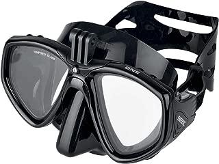 Seac 中性 - 成人 One Pro 面具,带适配器适用于 GoPro 摄像机,潜水,黑色,标准