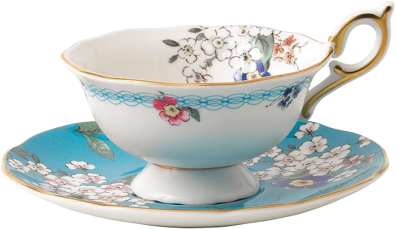 Wedgwood 40024024 Wonderlust Teacup Saucer Set Apple Blossom 2 Piece