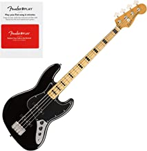 Squier 0374540506 Classic Vibe 70s Jazz Bass, Maple Fingerboard, Black w/Fender
