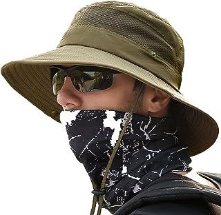 Sun Hat,Bucket Hat,Boonie Hat, H HOME-MART Breathable Wide Brim Fishing Hiking Hat Bucket Hats Safari Cap Bucket Hat Cowbo...