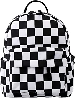 Durable Small Backpack for Women Polyester Mini Backpack Kids Backpack for Young Girls (lattice)