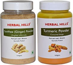 Herbal Hills Sunthee Powder and Turmeric Powder 100 GMS Each for Cold | Cough
