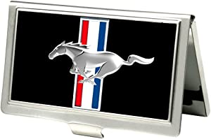 Buckle-Down Business Card Holder - Ford Mustang Full Color Black - Small