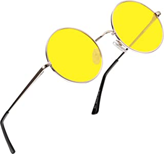 FEIDU Retro Polarized Round Sunglasses for Men Vintage Sunglasses Women FD3013