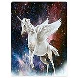 YISUMEI Decke 150x200 cm Kuscheldecken Sanft Flanell Weich Fleecedecke Bettüberwurf Einhorn Galaxy