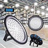 LED Industrielampe UFO, 200W LED Hallenleuchte...