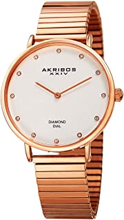 Akribos Xxiv WoMen's Quartz Watch, Analog Display And Stainless Steel Strap Ak927Rg