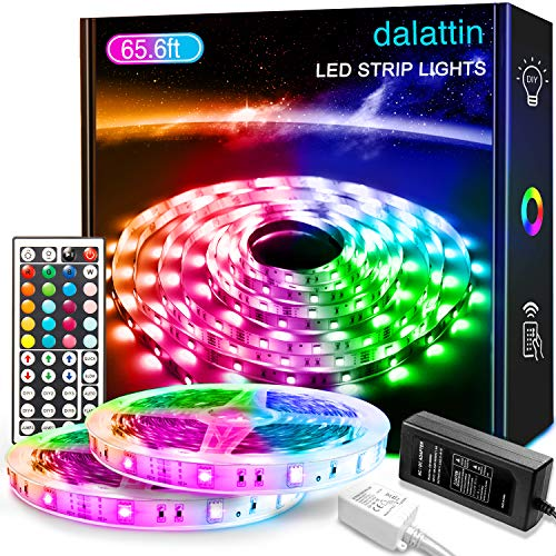 65.6ft Led Lights for Bedroom dalattin Led Strip Lights Color Changing Lights with 44 Keys Remote,2...