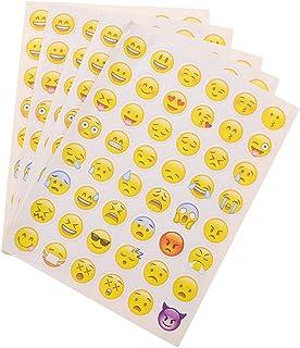 BJ-SHOP Adesivi Emoji Adesivo Premio Adesivo Smiley 500 Emoticon Reward Sticker 8 Disegni Assortiti Adesivi per Scuola da 2,5 cm per Adesivi di Formazione Vasino in Classe e Adesivi Motivazionali