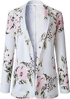 Mogogo Womens Spring Trendy Slim Fit Jacket Coat Floral Small Blazer