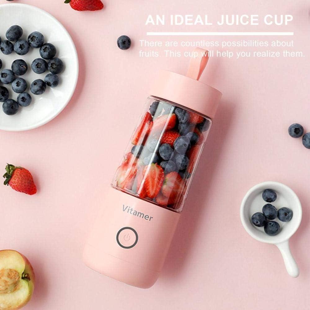 zyl Juicer portátil V Juice Charging Juice Cup Taza de Jugo eléctrica Moda Profesional Blanco White