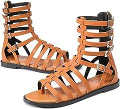 NET TOYS Sandales de Romain Femme Or Antiquit/é Chaussure dor/é D/éesse Grec Chaussures dElfe Romaine Dame Sandales Romaine Grecque Elfes d/éguisement Accessoire