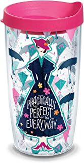 Tervis 1308582 Disney - Mary Poppins Returns Insulated Tumbler with Wrap and Fuschia Lid 16 oz Clear