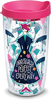 Tervis 1308582 Disney - Mary Poppins Returns Insulated Tumbler with Wrap and Fuschia Lid, 16 oz, Clear