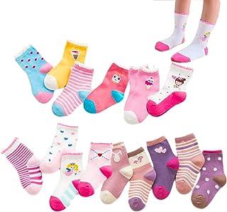 XM-Amigo, 15 pares de calcetines de algodón para niñas de colores de hadas helado donut encantador pequeño hongo de algodón de la tripulación calcetines