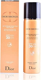 Dior Bronze Beautifying Protective Milky Mist Sublime Glow Spf30 Body And Face 125ml