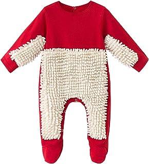 Vine Śpioszki niemowlęce mop outfit dla małych dzieci do pełzania, dla chłopców i dziewczynek, politura, do czyszczenia po...