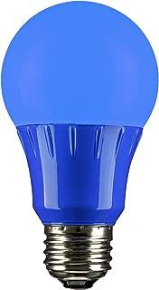 Sunlite 80145 Blue LED A19 3 Watt Medium Base 120 Volt UL Listed LED Light Bulb, last 25,000 Hours