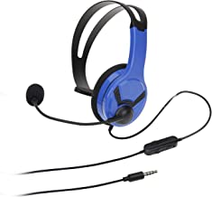 AmazonBasics Gaming Chat Headset for PlayStation 4 with Microphone - 4 Foot Cable, Blue