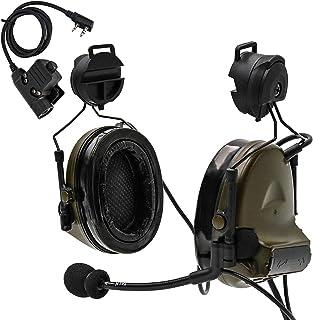هدست تاکتیکی TAC-SKY نسخه Helta Helmet نسخه کاهش صدا برای فعالیتهای Airsoft (Army Green)