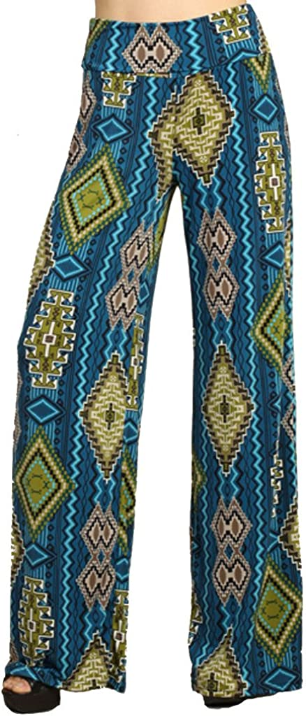 SugarRock Women Paisley Print Yoga At the It is very popular price of surprise Palazzo Waist Pants Fold-Over