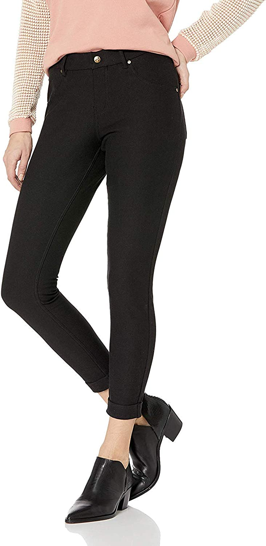 HUE Women's Essential Denim Jean Skimmer Leggings, Assorted