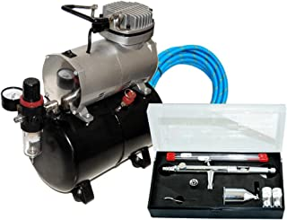 MASTER Airbrush SB88 Pro Set with TC-20 T Air Compressor with Tank (Packaging may vary)