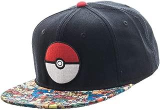 Bioworld Pokemon Pokeball Character All Over Print Sublimated Bill Snapback Hat…