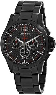 Longines Conquest V.H.P. Black Carbon Dial Men's Chronograph Watch L3.727.2.66.6