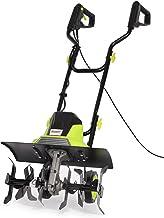 Electric Tiller, 1500W Garden Soil Cultivator Rotavator with 6 Steel Blades, 45cm Cutting Width, Foldable Handle, 22cm Til...