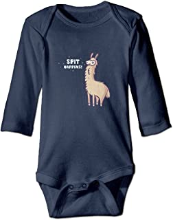 Wangyi Spit Happens Alpaca Llama Baby Jumpsuit,Nation 0-24 M Baby  Infant Boy Girl Cotton Romper Bodysuit Clothes