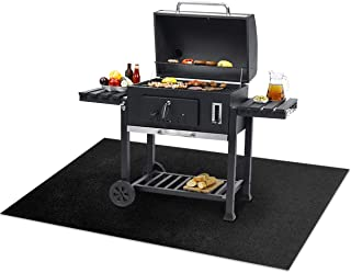 TREETONE Large BBQ Under Grill Mats 30x47.6 Inchs for Outdoor Cooking,Gas or Electric Grill,Oven, Grilling Potholder, Kitc...